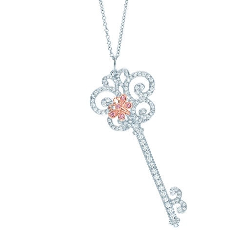 Tiffany-Co-Enchant-butterfly-key-pendant-with-white-diamonds-in-platinum-and-pink-diamonds-in-18ct-pink-gold