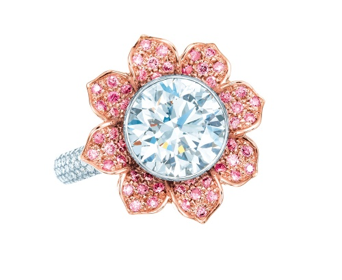 Tiffany-Co-pink-and-white-diamond-flower-ring-in-platinum-and-18ct-rose-gold