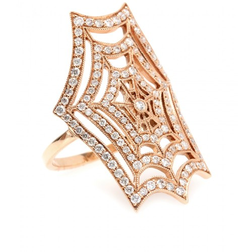 Stone Paris Spiderweb Ring
